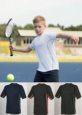 Children's ARIDUS DRI Performance Wicking Sport T-Shirt White Black Navy TL513