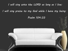 Wall Stickers Bible Verses Psalm 104:33- I Will Sing Unto The Lord - Family Wall