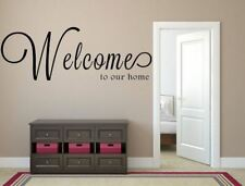 Welcome To Our Home Vinyl Wall Decal, Welcome Home, Welcome Vinyl Wall Decal