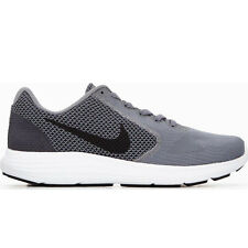 Nike REVOLUTION 3 Mens Grey Black 002 Mesh Sport Athletic Running Training Shoes