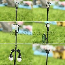 Miniature Streetlight Fairy Garden Ornament Decor Pot DIY Craft Dollhouse Decor