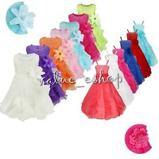 Flower Girl Princess Dress Kids Communion Party Prom Birthday Pageant Wedding