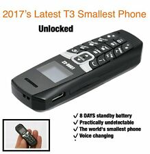 2017 Worlds Smallest Long CZ T3 Voice Changer Mini Cell Phone Bluetooth Unlocked