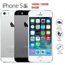 """Apple iPhone 5S 16GB 32GB 64GB """"GSM Factory Unlocked"""" Phone Gold Gray or Silver"""