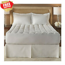 100% Cotton Mattress Topper Pad Cover FOR Memory Foam Full Twin Bed King Queen