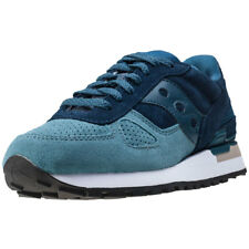 Saucony Shadow O Suede Womens Trainers Teal Blue New Shoes