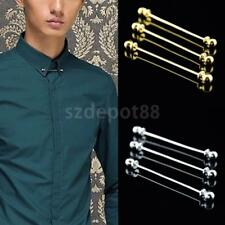 Men's Round Head Ball Collar Stay Pin 65mm Screw Tip Copper Wedding Tie Bar Gift