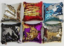 Reversible Sequins Mermaid Sofa Throw Pillow with insert 16 x 16 Square 6 colors