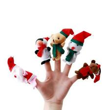 5X Christmas Santa Claus Snowman Cute Finger Puppets Toy Kids Gift Favors Doll I
