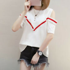Stylish Women's Sexy T-Shirt Off Shoulder Short Sleeve Shirts Blouse Casual Tops