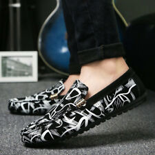 Men's Floral Flat Loafers Casual Slip On Moccasin-gommino Driving Shoes Club