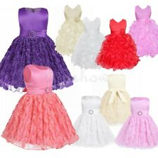 Pageant Birthday Flower Girl Baby Dress Wedding Bridesmaid Kids Formal Ball Gown