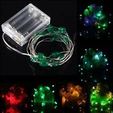 2M 18 LED Battery Operated Xmas Four leaf Clovers String Fairy Lights Party Wedd