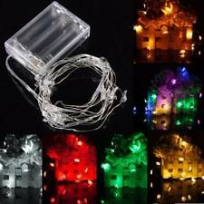 2M 20 LED Battery Powered Snowman String Fairy Light For Christmas Party Weddinn