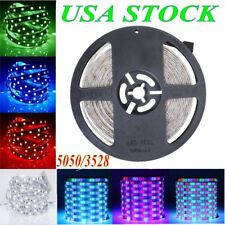 US Super Bright 5M 3528 5050 SMD RGB 300 LED Flexible Strip light For Xmas Car