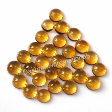 4mm To 10mm Natural Citrine Cabochon Round Calibrated Size Loose Gemstone