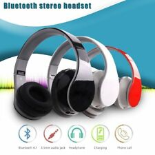 New Bluetooth Wireless Headphones Headset With Built-in Mic Noise Cancelling US