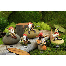 Miniature gnome figurines for fairy gardens and terrariums