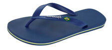 Mens Ipanema Flip Flops Flag II Brazil Beach Sandals - Navy - World Shipping