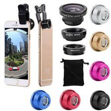 3 in 1 Lens Kit Universal Cell Phone Clip-on Wide Angle Fish Eye Macro Camera TR