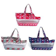 Strong Canvas Mesh Pet Carrier Dog Cat Puppy Travel Bag Sling Tote Handbag