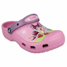 CROCS GIRLS CHILDRENS DORA THE EXPLORER BUTTERFLY CARNATION/IRIS BEACH CLOGS