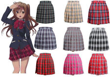 Anime Cosplay Japan School Girls Lolita  Uniform Dress Plaid Pleated Mini Skirt