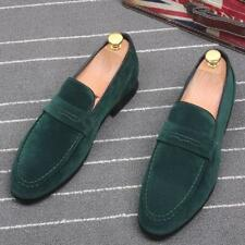 Qian 2017 Mens Loafers Slip on Suede Fashion Comfy moccasin Driving Casual Shoes