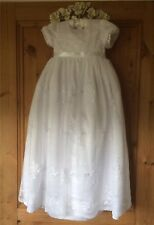 *NEW VICTORIAN STYLE LONG WHITE BABY GIRL CHRISTENING GOWN DRESS 3 6 9 12 MONTH*