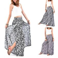 Palazzo Pants Harem Women Small Paisley Flower Wide Leg Baggy Trousers Hippie