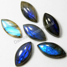 Natural Labradorite 4x8mm to 8x16mm Marquise Cabochon Calibrated Size Gemstone