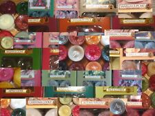 Yankee Candle Tea Lights A --> Z  Box of 12  @ Burns 4-6 Hrs YOU Pick