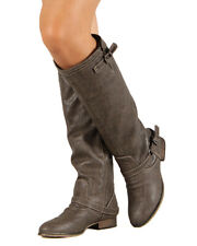 Breckelles Outlaw-81 Western Riding Esquarian Over the Knee Taupe Boot