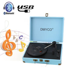 DMYCO Portable Phonograph Fashion 3 Speed Turntable Vintage Record Player Stereo