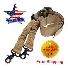 Adjustable Hunting Two Point Rifle Sling Bungee Tactical For AR15 Shotgun Strap