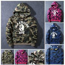 Shark Jaw Hoodie Men's Camo Bape Monkey Pattern A Bathing Ape Jacket Hot Sweater