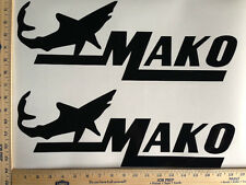 MAKO BOAT DECALS 18 COLORS AVAILABLE EMBLEM PAIR HIGHEST QUALITY STICKERS