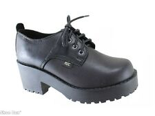 Roc Boots Chickadee Leather Lace Up Heeled School Shoes