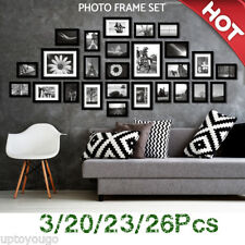 3/20/23/26Pcs Picture Photo Frames Set Wall Home Decor Art Valentine Gift New