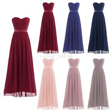 Women Ladies Evening Party Prom Bridesmaid Wedding Cocktail Long Maxi Dress Gown