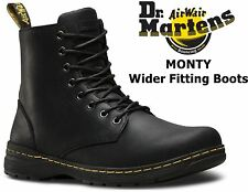 Dr Martens Mens Monty 1460 Black Republic Rugged Leather Ankle 8 Up Doc Boots