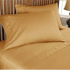 Gold Solid Egyptian Cotton 1000TC UK Bedding Linen Collection All Sizes