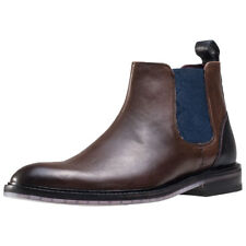Ted Baker Zilpha Glossy Polished Mens Chelsea Boots Brown New Shoes