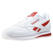 Reebok Cl Leather Ripple L Retro Mens Sneakers White Red New Shoes