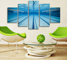 Swimming Pool Underwater Poster Modern Prints Canvas Picture Wall Art Home Decor