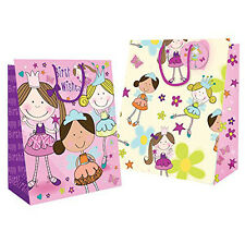 6 x Fairy Princess Happy Birthday Party Gift Bags - Ideal gift Medium,Large
