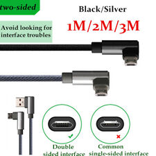 1/2/3M Quick Fast Speed Braid 2.4A Micro USB Data Charger Cable For Cell Phones