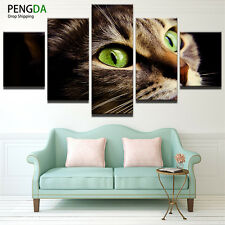 Animal Green Eye Cat Modern Abstract Poster Canvas Painting Wall Art Home Decor