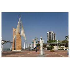 Poster Print Wall Art entitled Ecuador, Guayaquil, the Malecon has many