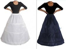 White/Black 3 Hoop A Line Wedding Dress Bridal Crinoline Petticoat Skirt Slip